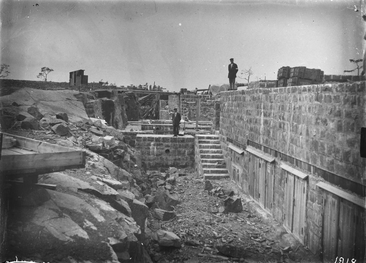 Venäläinen linnoitus Boxössä. Kuva: R von Hausen. Museovirasto.
