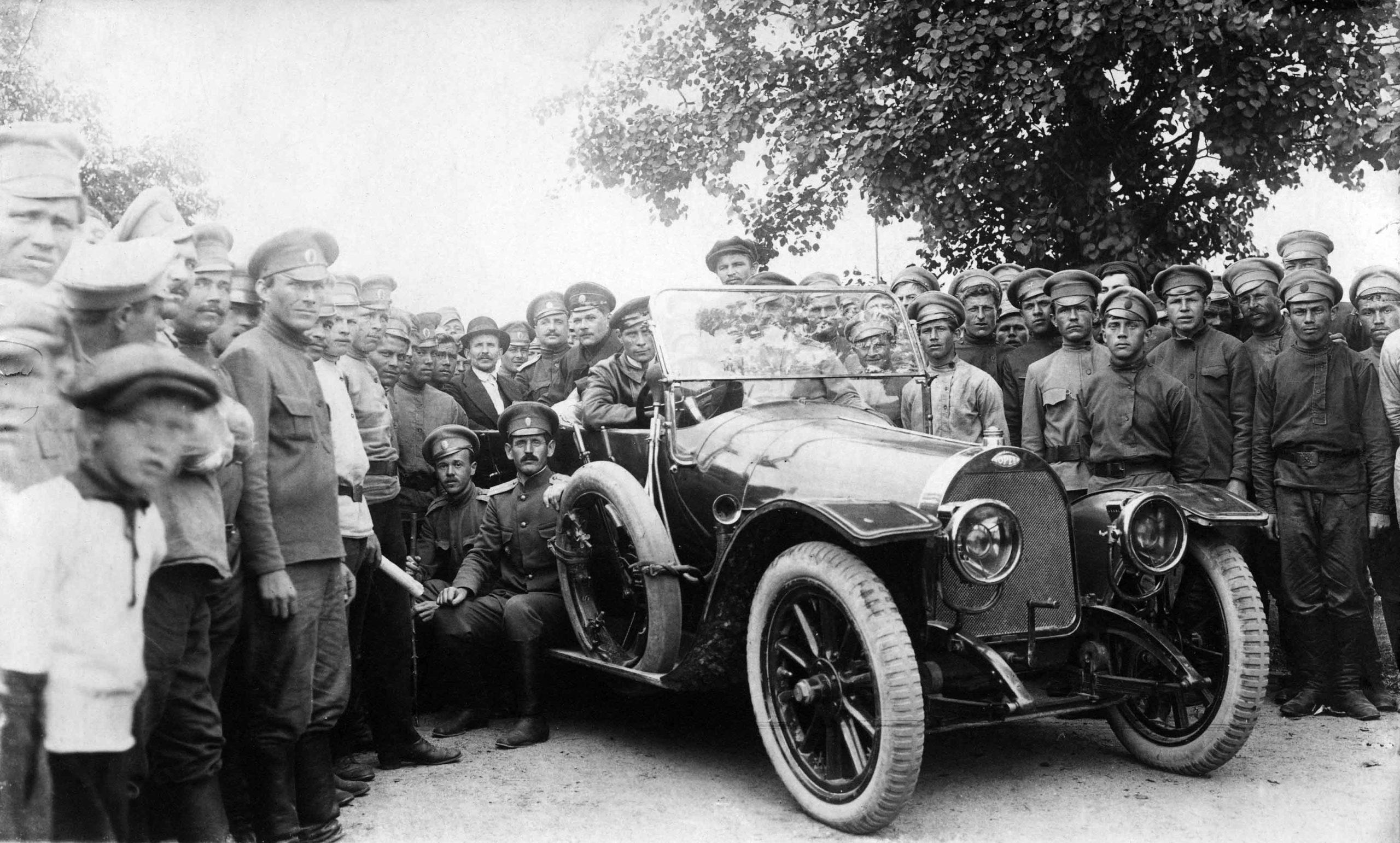 Venäläisiä sotilaita Ahvenanmaalla 1916. Ålands Museum.